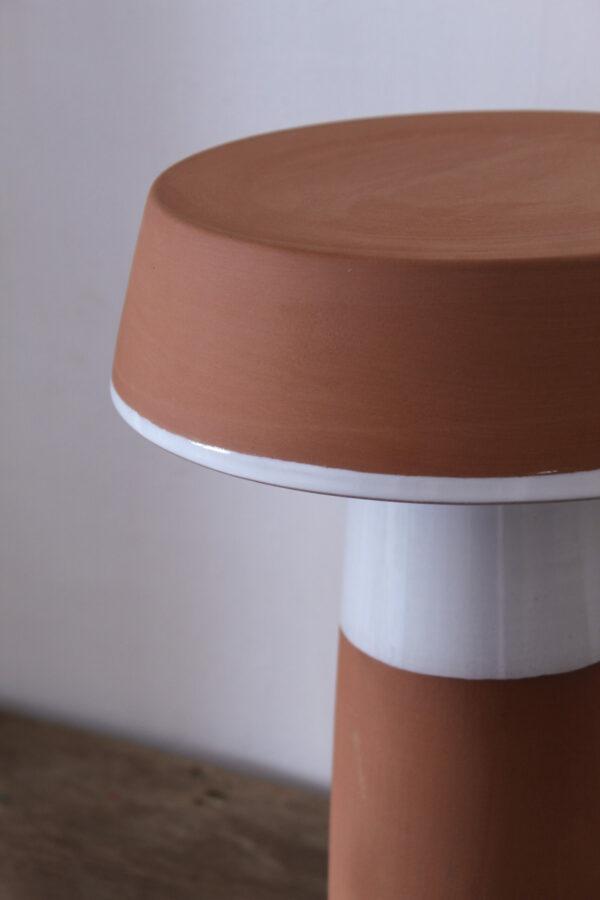 Lámpara artesanal de céramica torneada a mano Barbutina 3