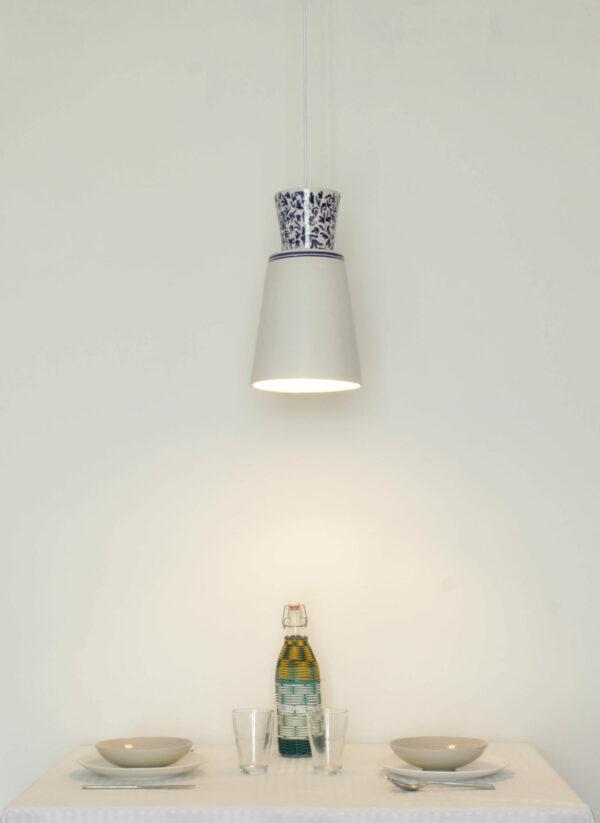 Lámpara artesanal de suspensión de cerámica Majolic 3