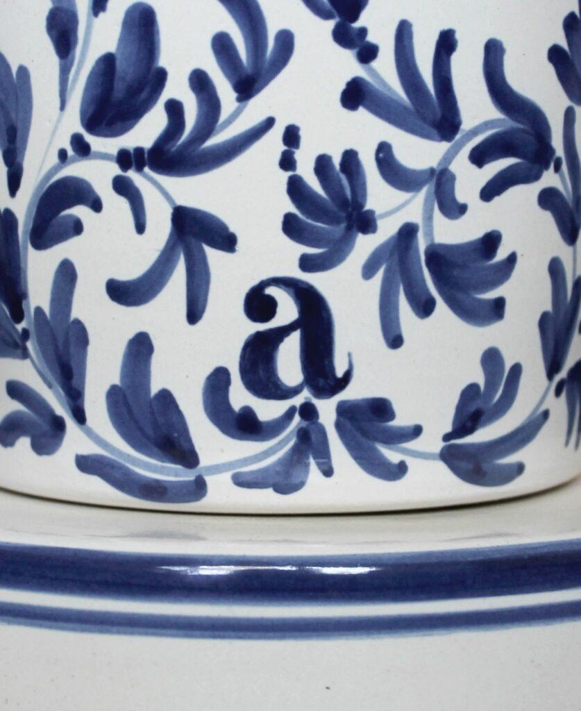 Lámpara artesanal de suspensión de cerámica Majolic 2