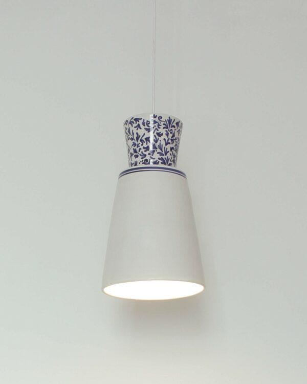 Lámpara artesanal de suspensión de cerámica Majolic 1